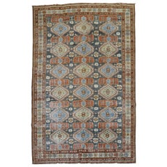 Rustic Accent Size Worn Caucasian Tribal Rug