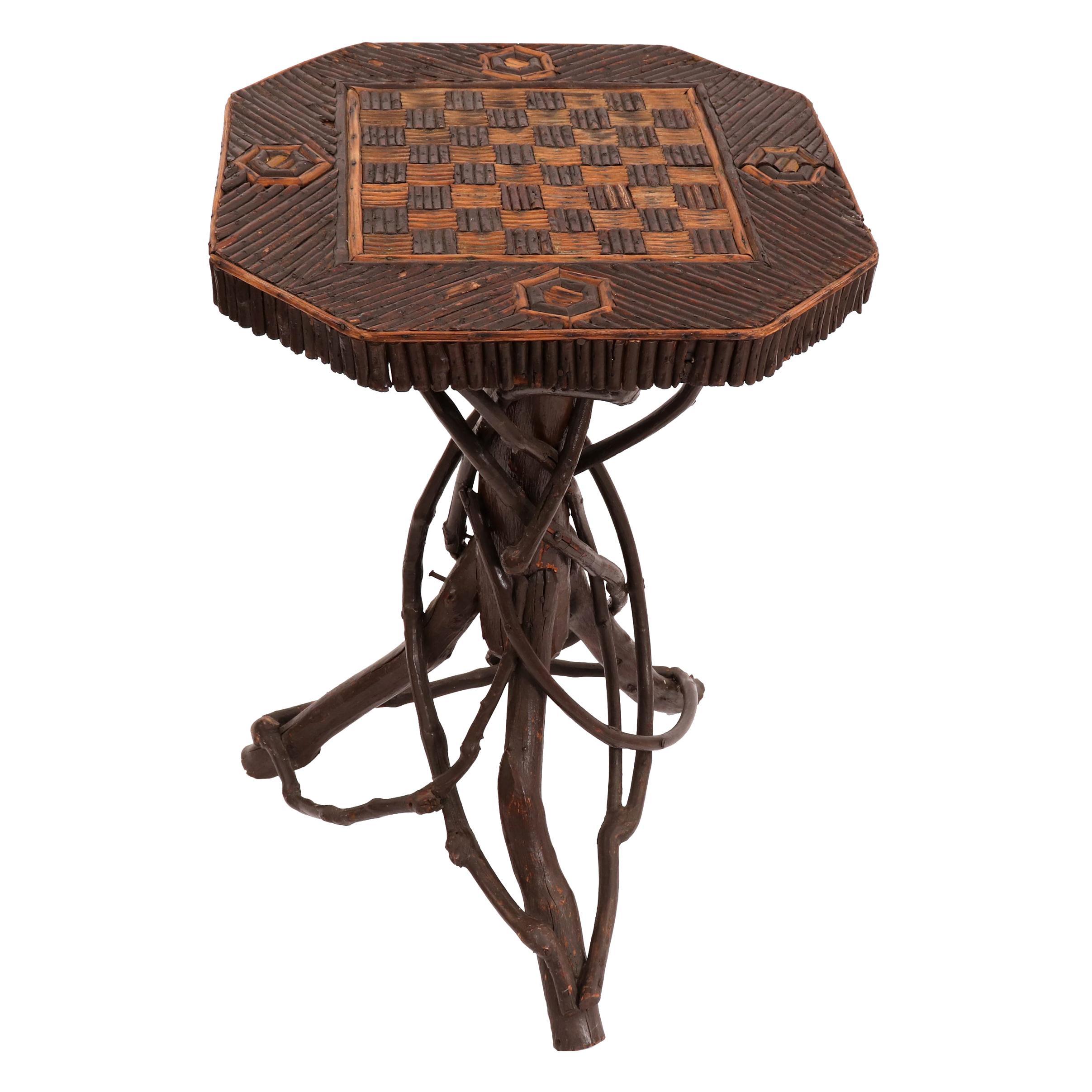 Rustic Adirondack Game Table
