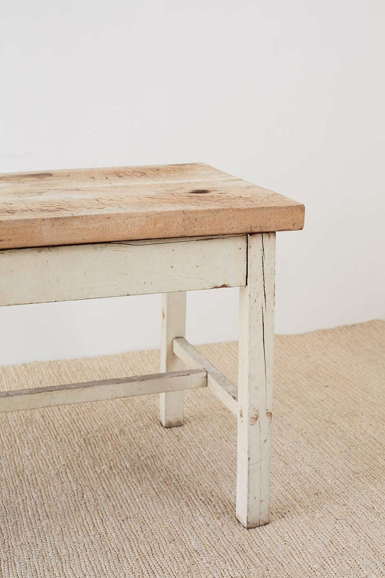Rustic American Farmhouse Butcher Block Work Table For ...