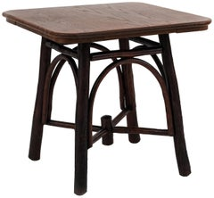 Rustic American Old Hickory Style Side or End Table