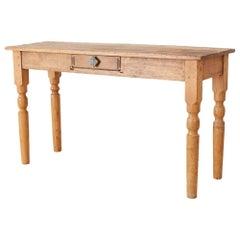 Rustic American Pine Farmhouse Console Table