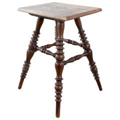 Rustic American Wooden Stool or Drinks Table