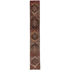 Rustic and Geometric Antique Kars Runner