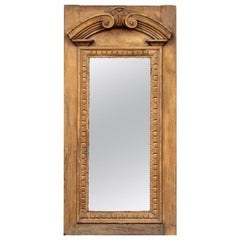 Rustic Antique Architectural Neoclassical Style Mirror