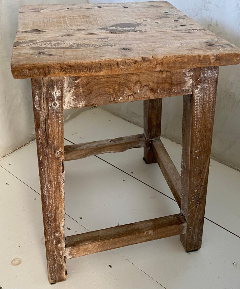 Rustic Antique Chinese Stool or Side Table For Sale 1
