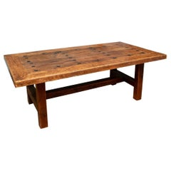 Rustic Antique Door Trestle Table