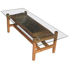 Rustic Antique Doughset Coffee Table / Planter