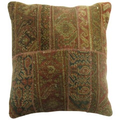 Rustic Antique Patchwork Format Rug Pillow