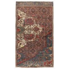 Rustic Antique Persian Bidjar Sampler Rug