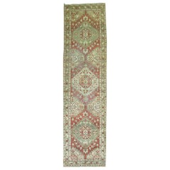 Rustic Antique Persian Heriz Runner