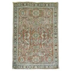 Rustic Antique Persian Shabby Chic Mahal Rug