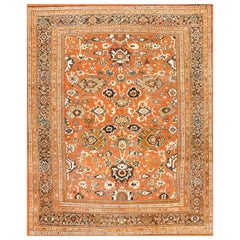 Rustic Antique Persian Sultanabad Rug. Size: 10 ft 6 in x 12 ft 8 in