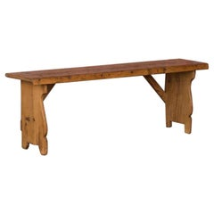 Rustic Antique Swedish Country Pine Bench