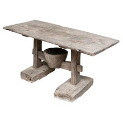 Rustic Antique Wood Farm Table