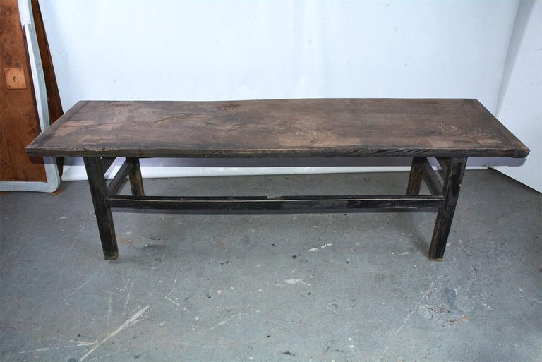 Awe Inspiring Rustic Asian Plank Top Coffee Table Short Links Chair Design For Home Short Linksinfo