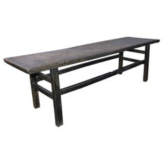 Rustic Asian Plank Top Coffee Table