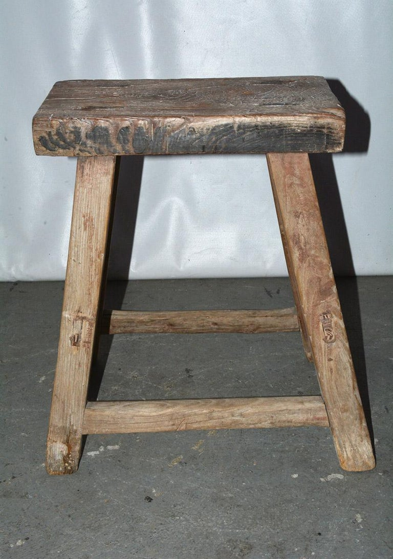 Chinese Rustic Asian Stools, Sold Singly For Sale