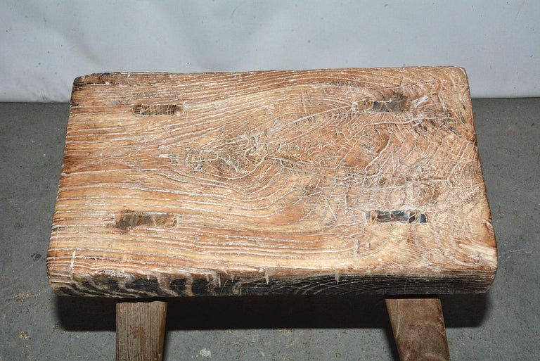 Hand-Crafted Rustic Asian Stools, Sold Singly For Sale