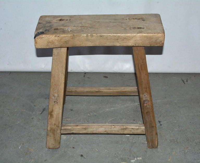 Elm Rustic Asian Stools, Sold Singly For Sale