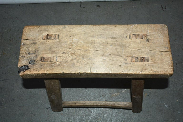 Rustic Asian Stools, Sold Singly For Sale 1