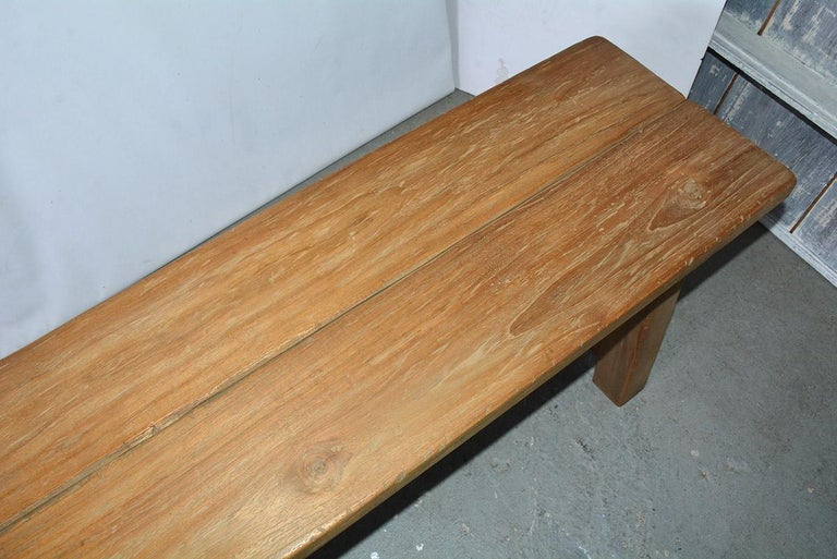 Rustic Asian Teak Wood Bench/Coffee Table For Sale 2
