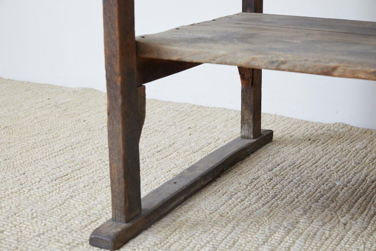 Rustic Barnwood Pine Three Shelf Display Étagère For Sale 7