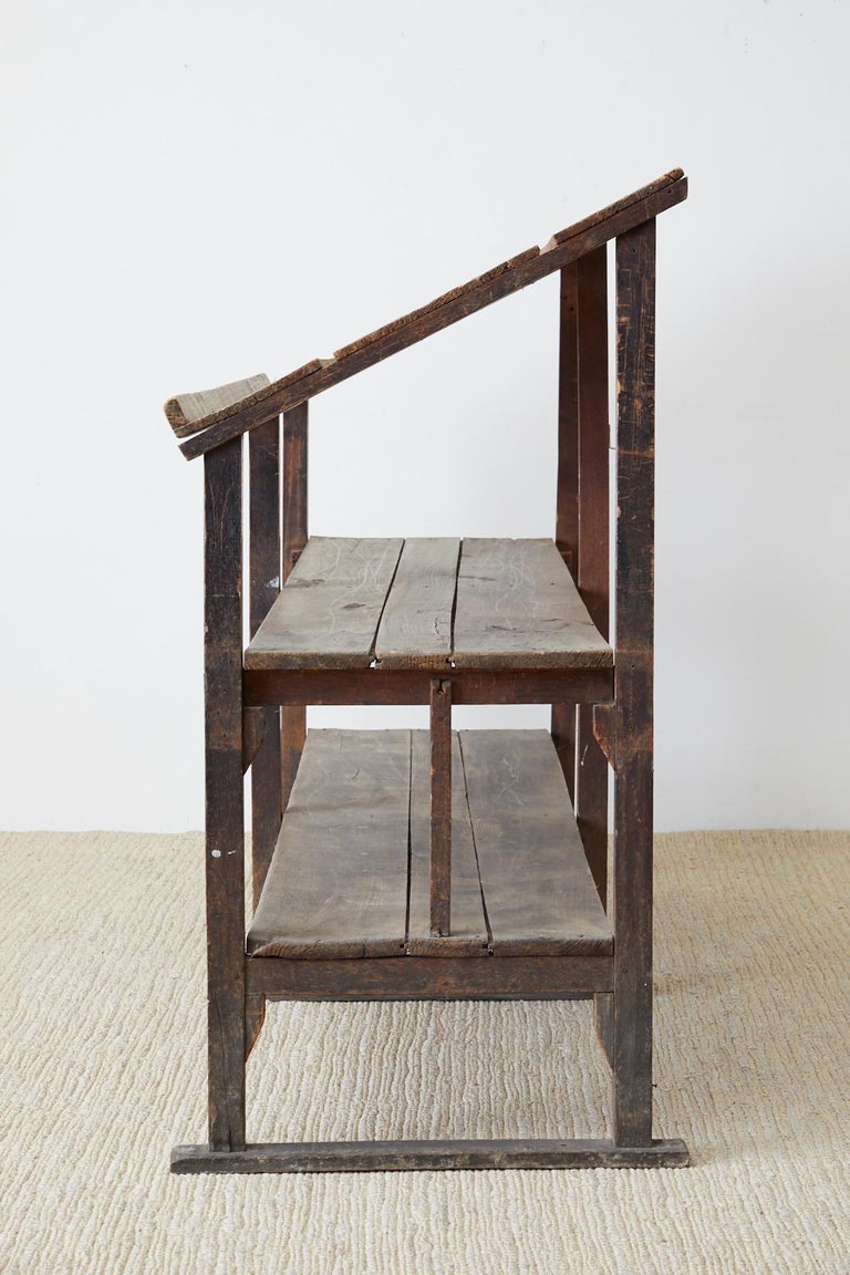 Rustic Barnwood Pine Three Shelf Display Étagère For Sale 12
