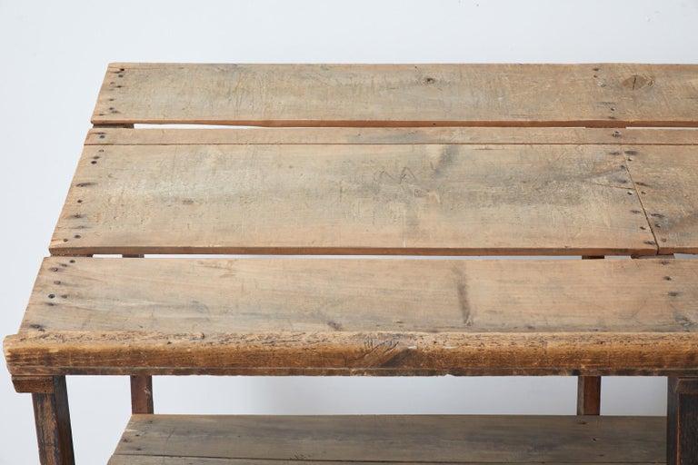 Rustic Barnwood Pine Three Shelf Display Étagère For Sale 2