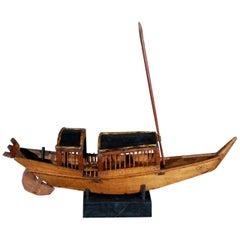 Rustic Belgian Wooden Boat