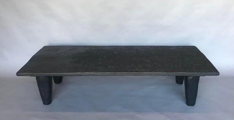 Guatemalan Rustic Black Coffee Table For Sale