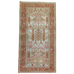 Rustic Blue Antique Malayer Weeping Willow Tree 20th Century Rug
