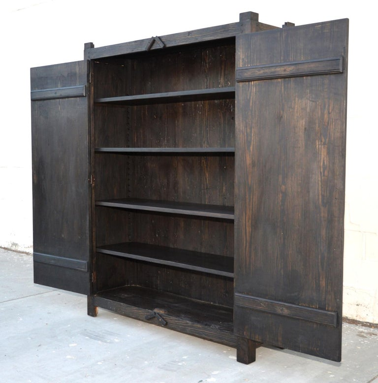 Salvaged Kitchen Cabinets For Sale: Rustic Cabinet In Reclaimed Heart Pine For Sale At 1stdibs