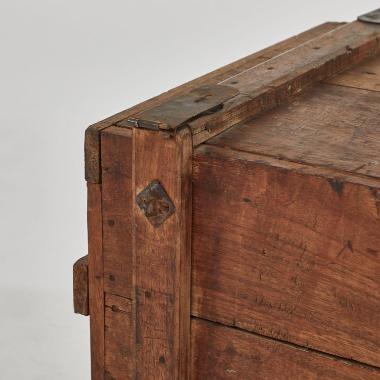 Late Victorian 19th Century Rustic Chest as a Coffee Table For Sale