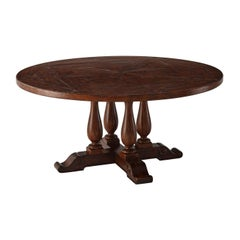 Rustic Circular Dining Table
