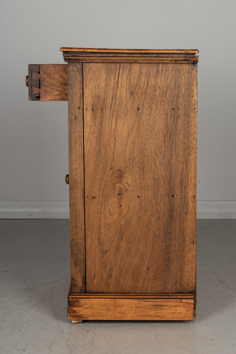 Walnut Rustic Country French Side Table