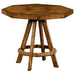 Rustic Country Octagonal Side Table