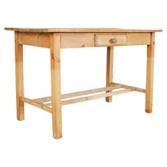 Rustic Country Pine Farmhouse Desk or Writing Table