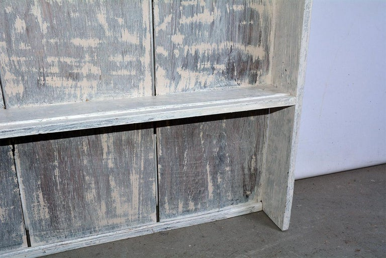 Hand-Painted Rustic Country Style Plate Rack or Hutch For Sale