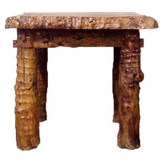Rustic Country Table Log Burl Jujube Solid Wood