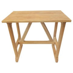 Rustic Craftsman Style Trestle Console, Small by Martin and Brockett