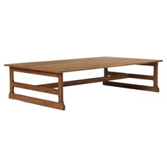 Rustic Craftsman Style West Trestle Console, Large by Martin and Brockett, Ebony