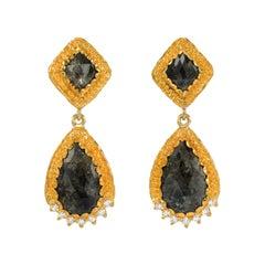 Victor Velyan Rustic Diamond Earrings