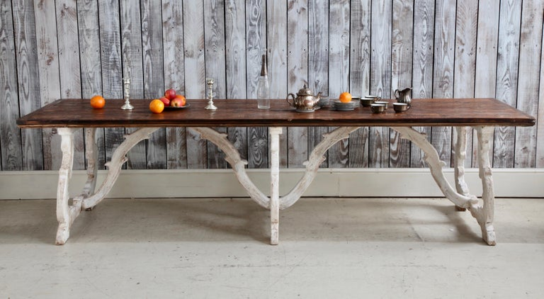 Rustic Country House Dining Table From Tuscany, Italy For Sale