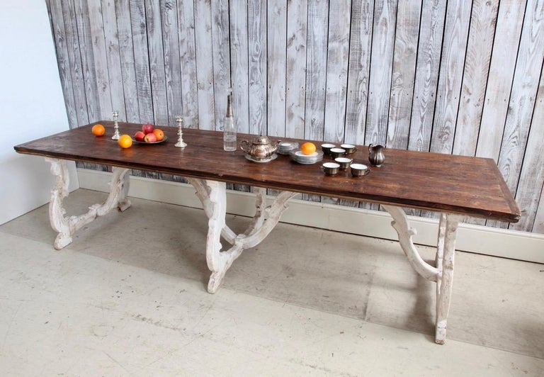 Italian Country House Dining Table From Tuscany, Italy For Sale