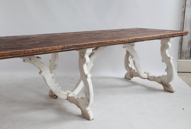 Gesso Country House Dining Table From Tuscany, Italy For Sale