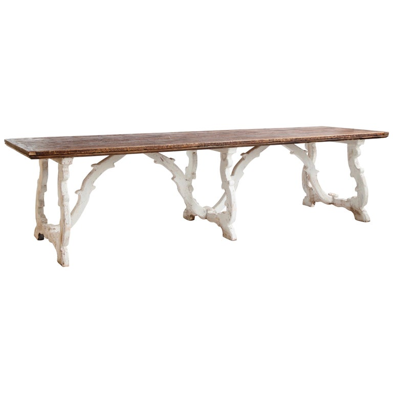 Country House Dining Table From Tuscany, Italy For Sale