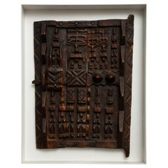 Rustic Dogon Style African Granary Door Framed
