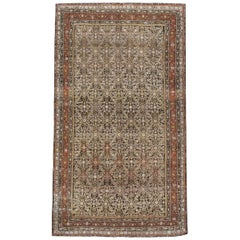 Rustic Early 20th Century Handmade Persian Kurd Gallery Accent Rug