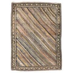 Rustic Early 20th Century Handmade Persian Malayer Throw Rug