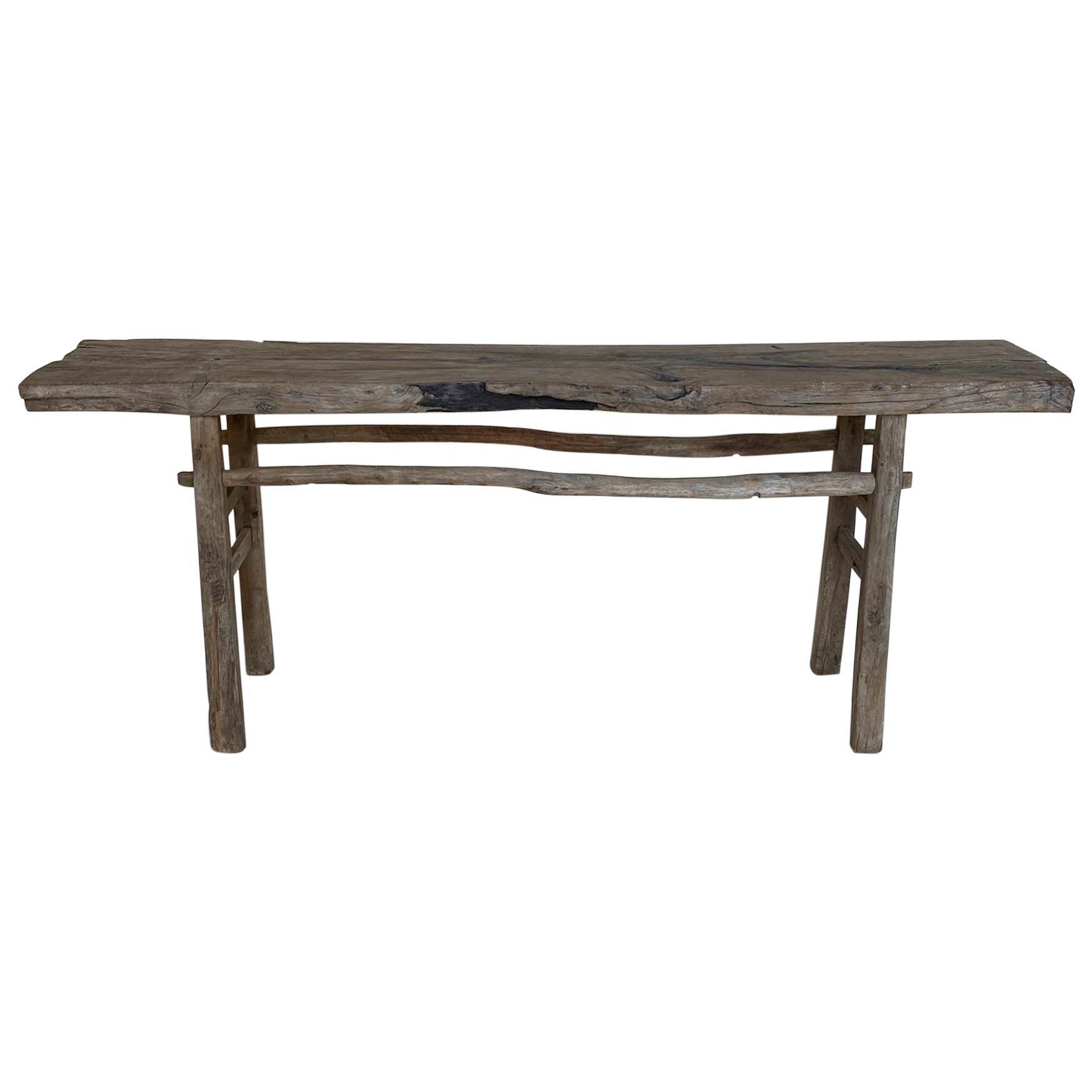 Rustic Elm Altar Table